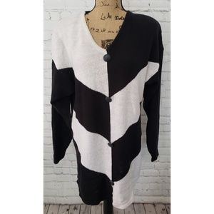 VINTAGE 90'S OVERSIZED COLORBLOCKED  SWEATER